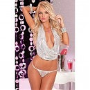 Набор Pink Lipstick Lingerie «Jersey Wow! Sequin drape top set»